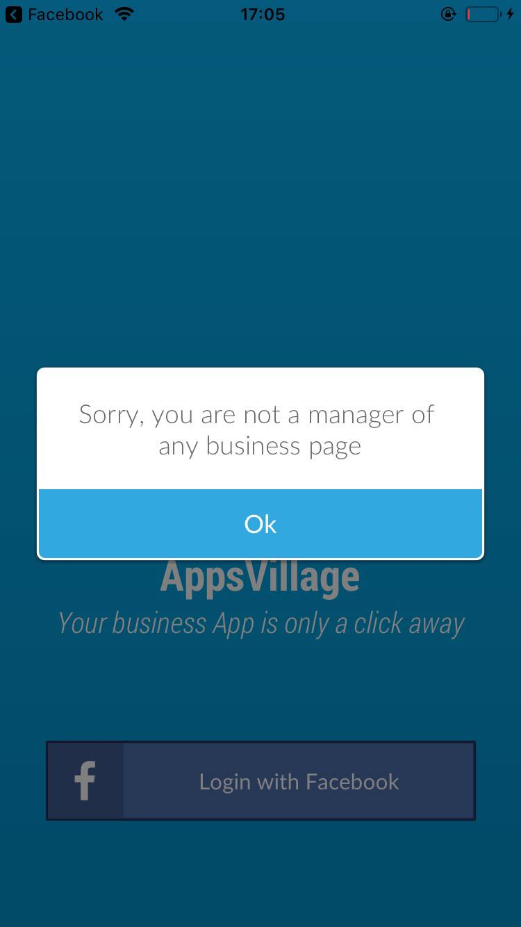 I get error - Not a manager of any business page – AppsVillage